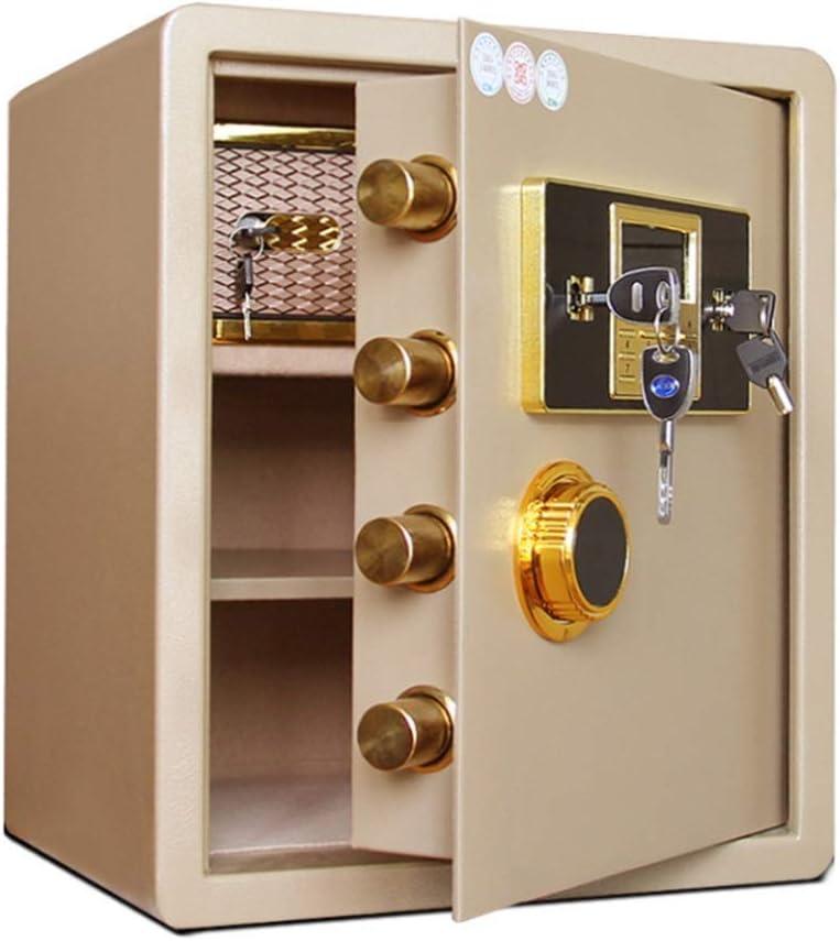 Solide en acier sécurité clé de sécurité ignifuge Home Office Argent Cash coffre noir