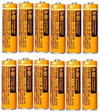 12x Pilas Recargables AAA 550 mah 1.2v para Panasonic, baterias Recargables NiMH para telefonos inalambricos: Amazon.es: Electrónica
