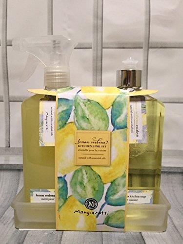 Lemon Verbena Surface Cleaner & Natural Soap Kitchen Gift Set by Mangiacotti