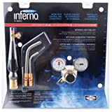 Harris HX-4B Inferno Air-Fuel Kit with Quick Connect Acetylene Hose Connections, HA-5i/HA-14i Inferno Brazing Tips and B Tank Connection (Pack of 1)
