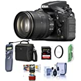 Nikon D810 DSLR Kit AF-S NIKKOR 24-120mm f/4G ED VR Lens - Bundle Camera Bag, 32GB Class 10 SDHC Card, 77mm WA UV Filter, Cleaning Kit, Card Reader, Remote Shutter Trigger, Mac Software Pack