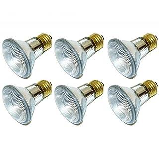 (Pack Of 12) 39PAR20/FL 120V - 39 Watt High Output (50W Replacement) PAR20 Flood - 120 Volt Halogen Light Bulbs