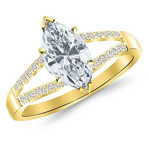 0.76 Ct Marquise Diamond - 9
