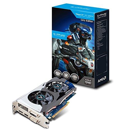 Sapphire GRA PCX R7 250X Vapor-X OC Grafikkarte (PCI-e, 2GB GDDR5-Speicher, HDMI, 2x DVI, DisplayPort, 1 GPU)