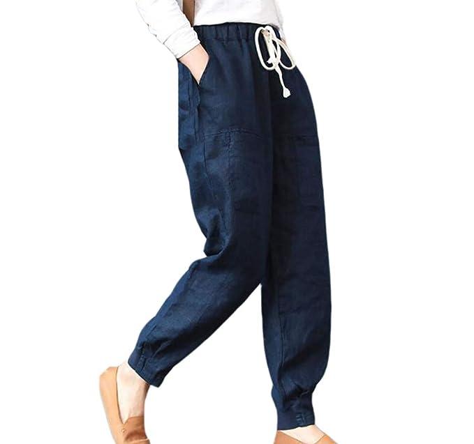 molto carino 411e1 77838 Oneforus Le Signore Moda Casuale Sciolto I Pantaloni ...