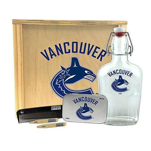 Worthy Promo NHL Vancouver Canucks Gentlemen's Gift Box-Toiletry Edition 1-250 ml Glass Swing-Top Bottle, 10