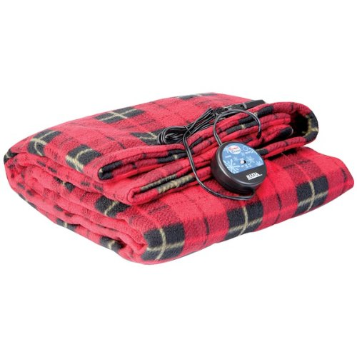 Brand New Maxsa Innovations Comfy Cruise Heated Travel Blanket Red Plaid