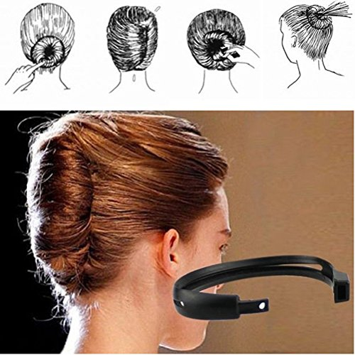 cuhair 2pcs New Fashion Convenient Womens DIY Hair Styling Donut Bun Clip Tool Twist Maker Holder Hair Sticks Hair Accessories