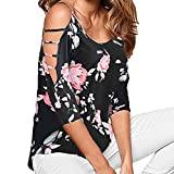 UONQD Woman tops ladies for women off the shoulder long tunic going out cute trendy lace top party cotton blouses womens shirts summer dressy halter red (Small,Black)