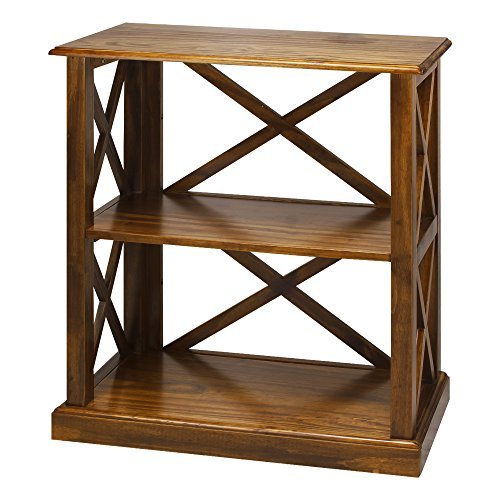 Casual Home 363-34 Bay View 3-Shelf Bookcase-Warm Brown