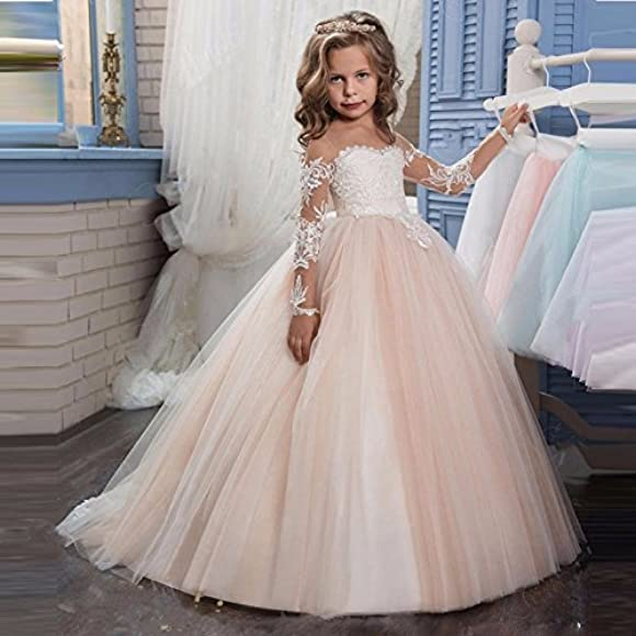 Cde Kids Vintage Fancy Flower Girl Dresses For Wedding Puffy Floral Lace Prom Formal Dresses With Train Pageant Ball Gowns For Girls 2 12 Years Old Pink Size 6 Amazon Co Uk Clothing,Altering Wedding Dress