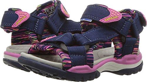 Geox Borealis Girl 7 Sandal Navy/Fuchsia 26 M EU Toddler (9 US)