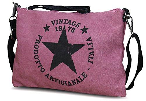 Pink Canvas Star M3 Handbag Woman x5PSqxwYv