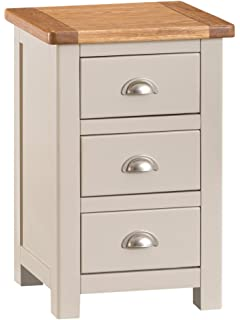 196c0d68aaf0 Roseland Furniture Padstow Grey Bedside - Bedside Cabinet - Small ...