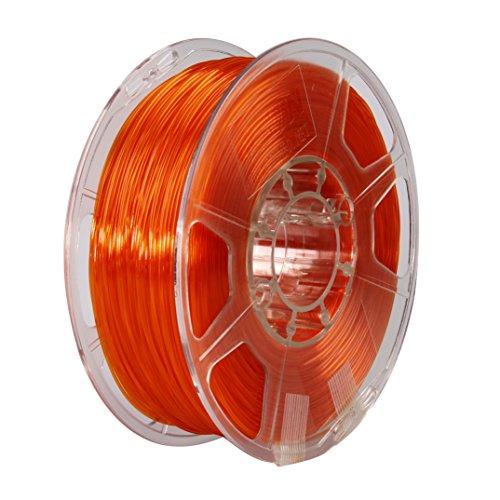eSUN 3D 1.75mm PETG Orange Filament 1kg (2.2lb), PETG 3D Printer Filament, Semi-Transparent 1.75mm Orange