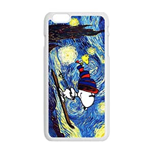 Van gogh starry night paintings snoopy Cell Phone Case for Iphone 6 Plus