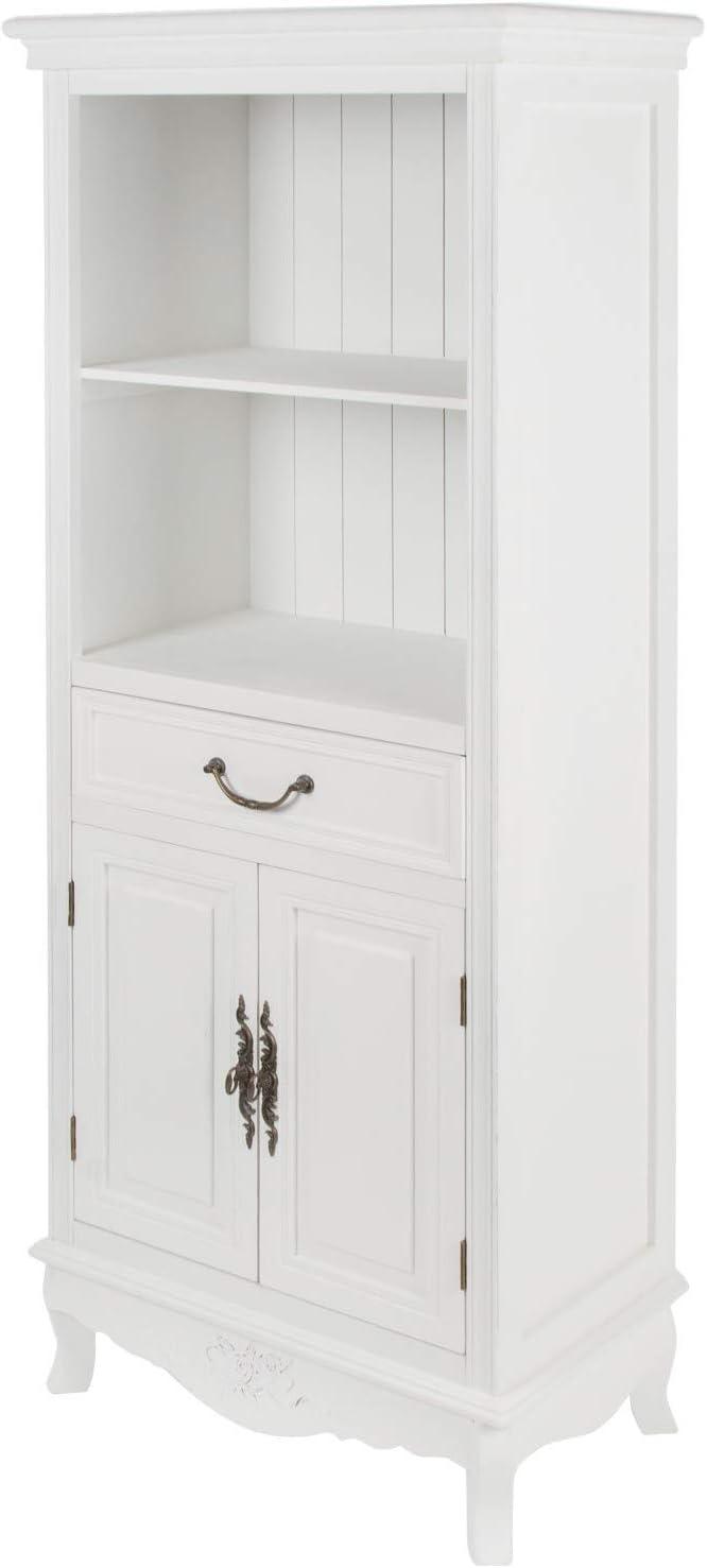 elbmöbel Küchenregal in weiß aus Holz mit Türen im Landhaus