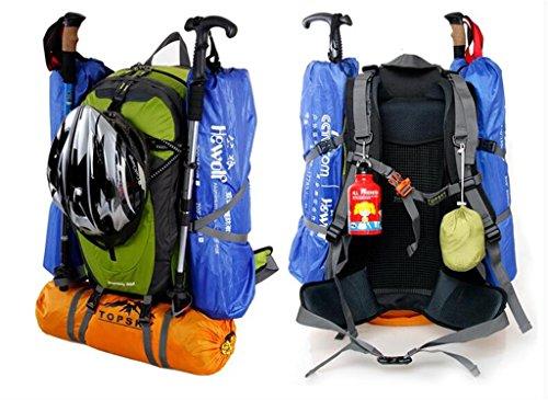 arrampicata all'aperto uomini e donne borsa a tracolla sacchetto esterno di alpinismo zaino turismo all'aria aperta pacchetto di viaggio ( colore : Nero , dimensioni : 50L )