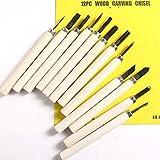 12Pcs Wood Carving Tools Hand Chisel Knife Set