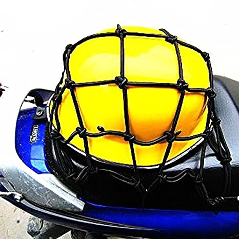 Black Motorbikes, Accessories & Parts Boots & Luggage Binnan Multi-Purpose Heavy-duty Elasticated Bungee Luggage Cargo Net for Motorcycle Bike Equipment Cargo with Adjustable Hooks