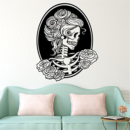 HANYI Happy Halloween Skeleton Background Decorated Wall Stickers Removable Decal Sticker Wallpaper (29.1x22.8'')