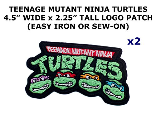 2 PCS Teenage Mutant Ninja Turtles Theme DIY Iron / Sew-on Decorative Applique (Diy Ninja Costume Boy)
