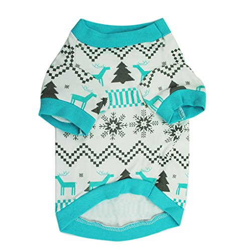 Puppy Clothes,Haoricu Christmas Printed Snow Fawn Tee Shirt Small Dog Cat Custome Pet Vest T-Shirt Apparel 51oMFsPTi9L