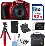 Canon PowerShot SX420 IS (Red) with 42x Optical Zoom and Built-In Wi-Fi with 32GB High Speed Memory Card + Deluxe Camera Case + Flexible Spider Tripod + Starter Kit Deluxe Accessory Bundle Review