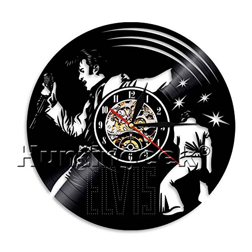 Elvis Presley Vintage Clock (Elvis Presley Wall Clock Elvis Presley Vinyl Record Clock Vintage Home Decor Modern Wall Clock The King of Rock and Roll Wall Art (Without LED))