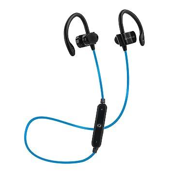Sannysis auriculares inalambrico bluetooth deporte, Auriculares bluetooth inalambricos para iPhone Samsung (Azul): Amazon.es: Electrónica