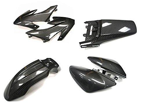 TMS Carbon Fiber Full Boby Plastic Fairing Kit for Honda CRF XR 50 XR50 (Carbon Fiber Fairing)