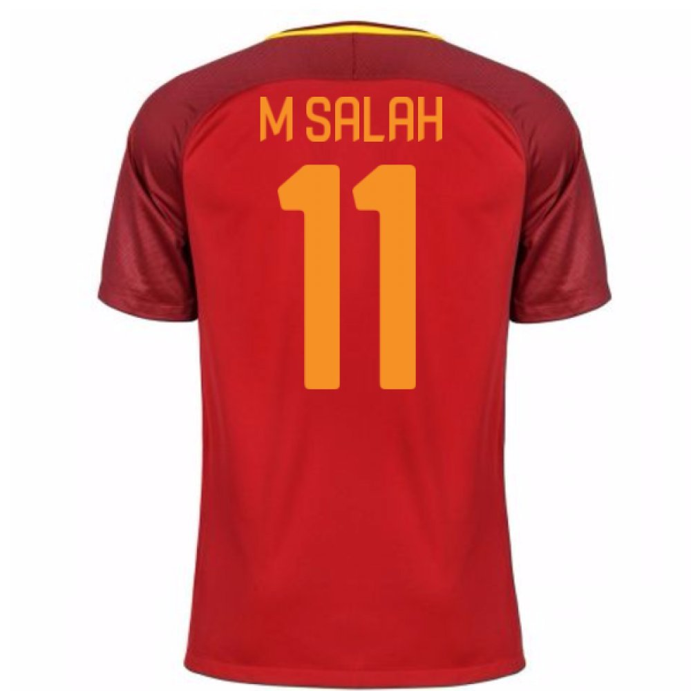 2017-18 Roma Home Football Soccer T-Shirt Trikot (Mohamed Salah 11)