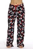 6339-10177-M Just Love Women's Plush Pajama Pants - Petite to Plus Size Pajamas,Black - Santa Skull,Medium