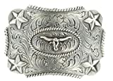 M F Western Products Boys Kids Longhorn Buckle Silver