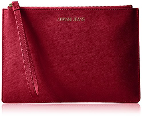 Armani Jeans Saffiano Crossbody Clutch, Berry by ARMANI JEANS