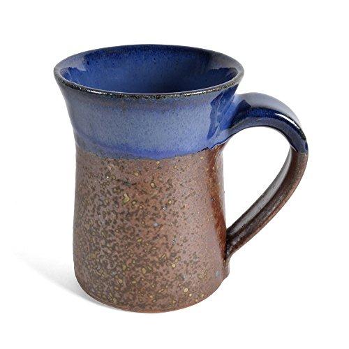 Rustic Pottery - Dock 6 Pottery Mug, Copper/Blue