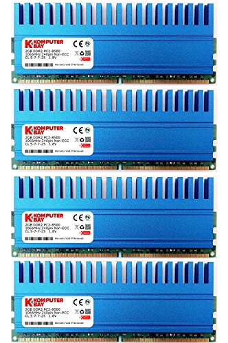 Komputerbay 8GB (4 X 2GB) DDR2 DIMM (240 pin) 1066MHZ PC2...