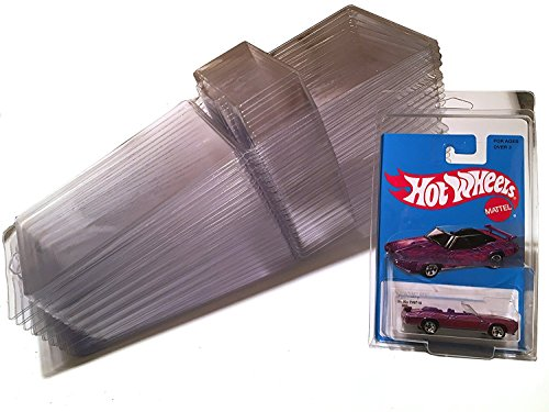Hot Wheels basic Car PROTECTIVE CASES Matchbox Plastic 75 pack Set of Clear die-cast car keepers Blister Pack Covers Clamshell Style Bulk covers from AYB Products