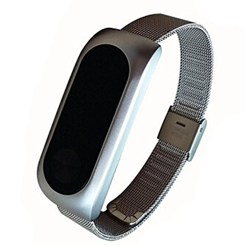 Price comparison product image Dreamyth Replacement Band Strap Bracelet for Xiaomi Mi Band 2 Smartband (Silver)