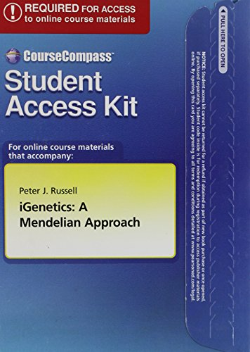 CourseCompass Student Access Kit for iGenetics: A Mendelian Approach