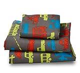 Twin Transportation Microfiber Print Bed Sheet Set for Kids Bedding