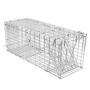 Amazon.com: Ationgle - Jaula de 2 puertas de metal para ...