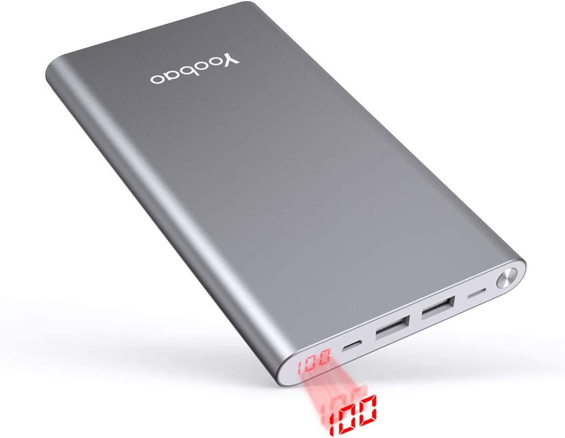 Yoobao 20000mAh Power Bank Mobile Phone Charger External Battery Pack Battery Backup Cell Phone (Dual Input, Dual USB Output) Compatible iPhone 11 Xs
