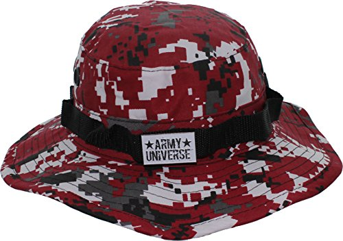 Red Digital Camouflage Boonie Hat with ARMY UNIVERSE Pin - Size Large 7 ½ -  Buy Online in Oman.  de712ca2b64