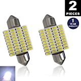 LUYED 2 X 430 Lumens Super Bright 3014 36-EX Chipsets 1.5 inches 36mm 6411 6413 6418 LED Bulbs Used For Dome light,Xenon White