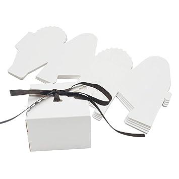 Amazon.com: Kslong - Juego de 50 cajas románticas de papel ...