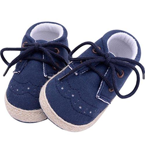 Igemy 1Paar Neugeborene Baby Mädchen Jungen Crib Soft Sole Anti-Rutsch Sneakers Schuhe Blau