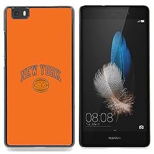 "Qstar Arte & diseño plástico duro Fundas Cover Cubre Hard Case Cover para Huawei Ascend P8 Lite (Not for Normal P8) (Nueva York Knick Baloncesto"")"