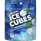 ICE BREAKERS ICE CUBES Sugar Free Gum (Peppermint, 8.11-Ounce)