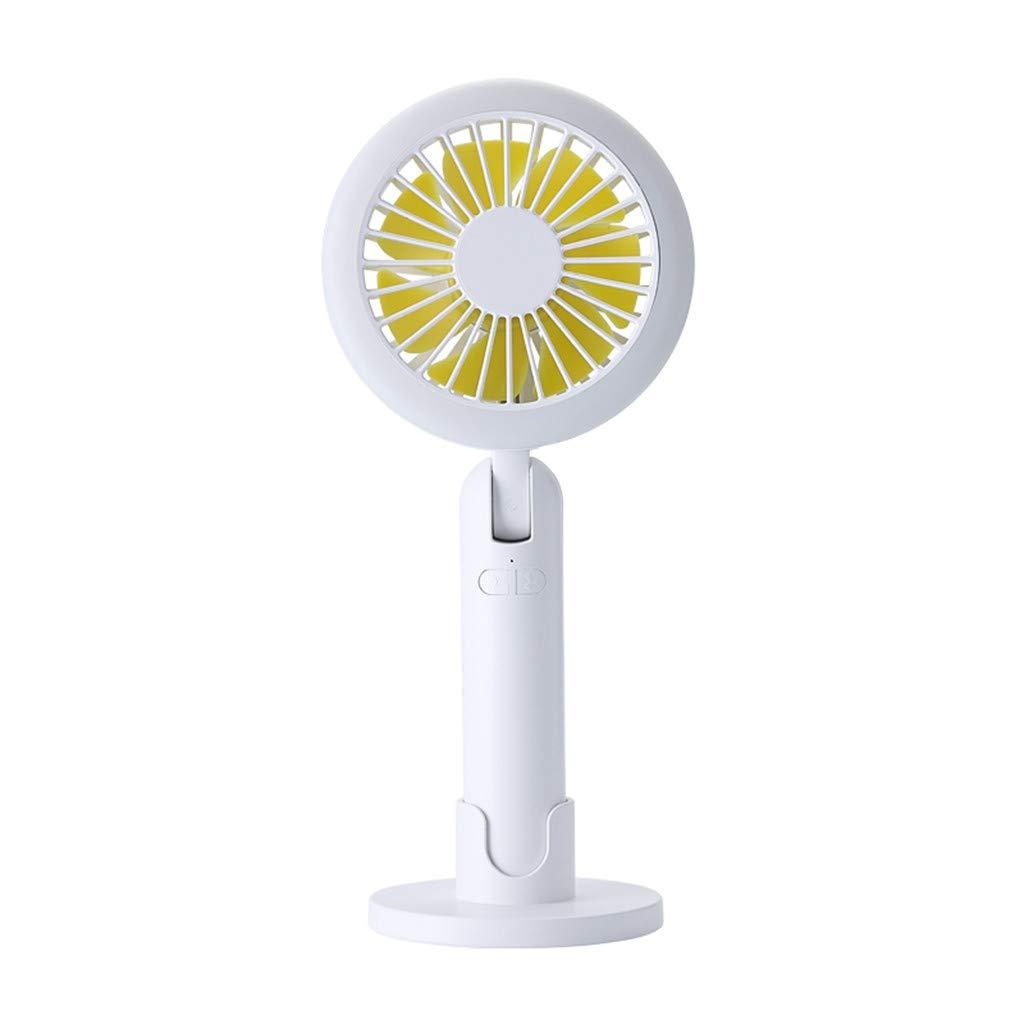 Simple Handheld Small Fan Light 2000mAh Portable Adjustble USB Mini Fan Second Generation Night Light Summer Small Fan
